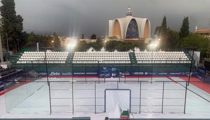 Lluvia en el Cerdeña Open. | Foto: World Padel Tour