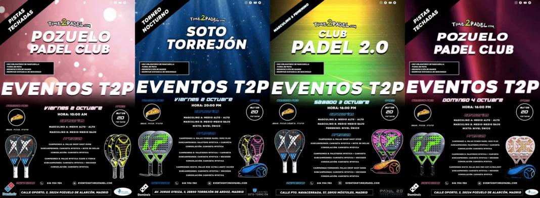 La oferta de Torneos Time2Padel.