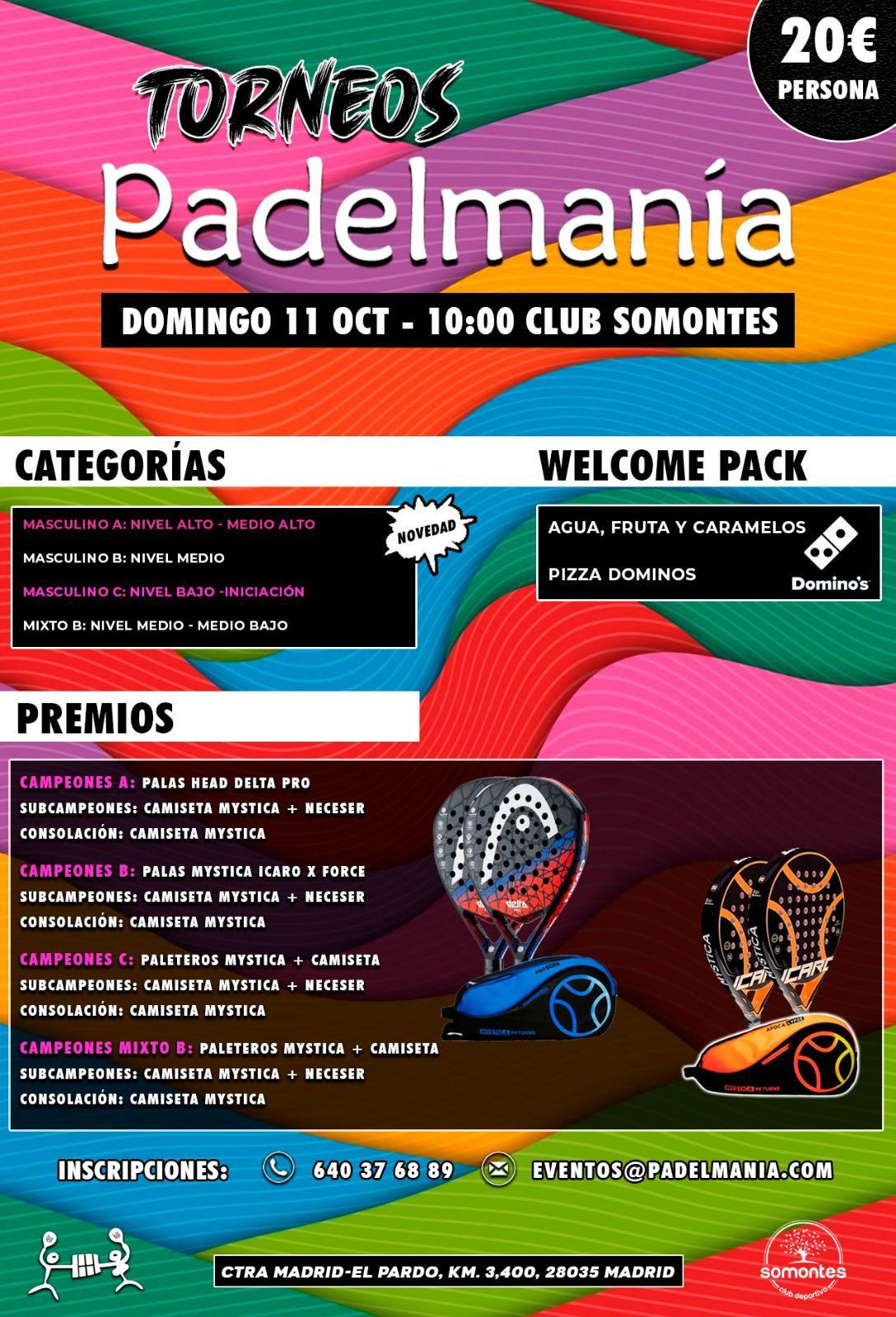 Torneos Padelmanía: A tope de diversión
