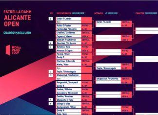 Alicante Open: Cruces y horarios de un torneo con muchos alicientes