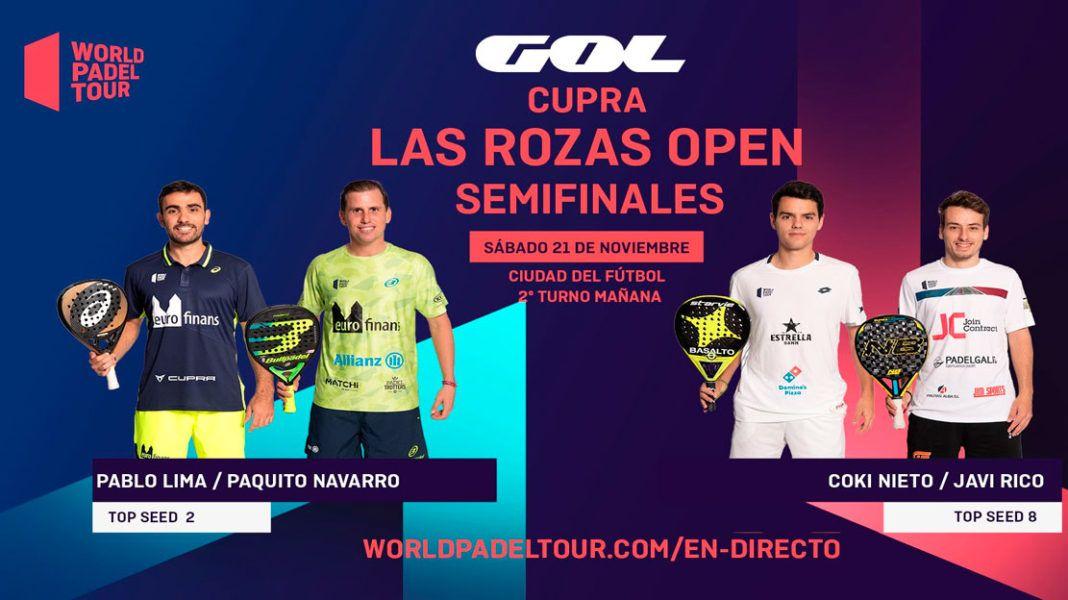 Las Rozas Open: Orden de Juego de Semifinales