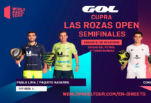 Las Rozas Open: Ordre de Joc de Semifinals