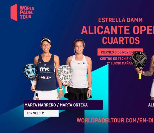 Alicante Open: Orden de Juego de Cuartos de Final