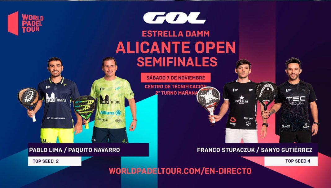 Alicante Open: Orden de Juego de Semifinales