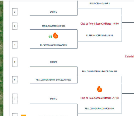 Todo listo para las semifinales del Cpto de España por Equipos de 1ª Categoría