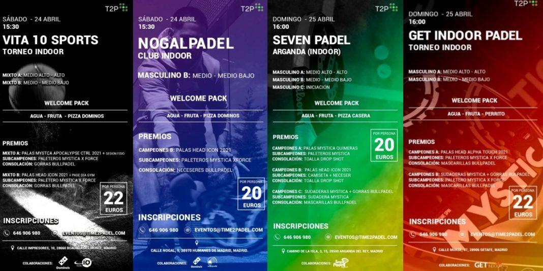 Divertiti con il paddle tennis con i tornei Time2Padel