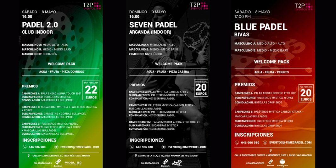 Divertente e fantastico paddle tennis con i tornei Time2Padel