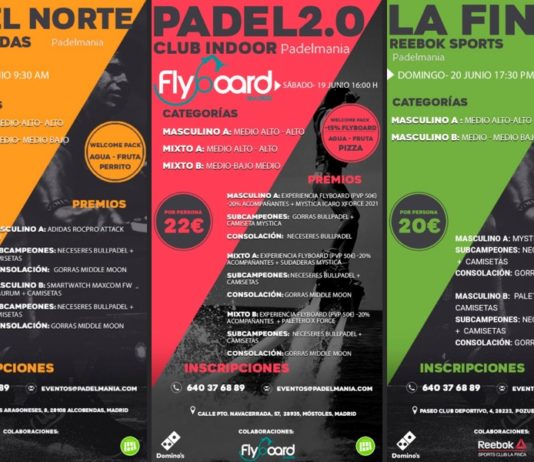 Torneos Padelmanía… Pádel y diversión asegurados
